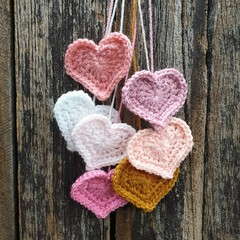 Crochet Wall Hearts - Colourway 2
