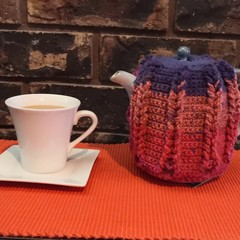 Tea Cosy/Cozy - Tropical Sunset Design for a Tall Slim Line Tea Pot
