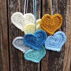 Crochet Wall Hearts - Colourway 1