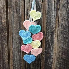 Crochet Wall Hearts - Colourway 5