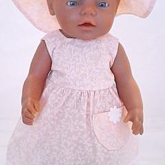 Baby doll Sundress, Hat and Knickers - Apricot