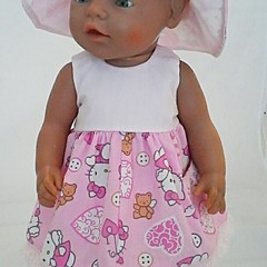 Baby doll Sundress, Hat and Knickers - Pink