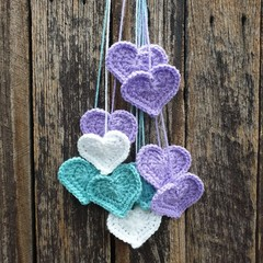 Crochet Wall Hearts - Colourway 4