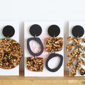 Black & Bronze Statement Earrings - Matisse - Surgical Steel