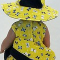Baby doll Sundress, Hat and Knickers - Yellow Butterflies