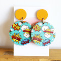 Sustainable Statement Earrings - Comic Book - Surgical Steel - Wholesale