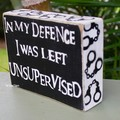 Funny Reclaimed Timber Block Signs