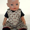 Baby doll Floral Overalls and TShirt