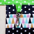 Teacher preschool vendor utility apron - 6 pockets - Flamingos