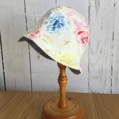 Baby Blossom Hat - Floral Linen - 12-18 months