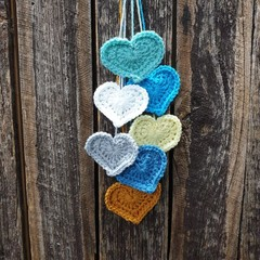 Crochet Wall Hearts - Colourway 12