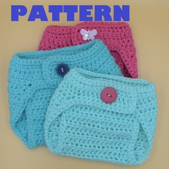 PATTERN diaper cover - 3-6 month - adjustable straps - newborn bab