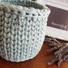 Crochet basket - planter size.
