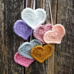Crochet Wall Hearts - Colourway 8