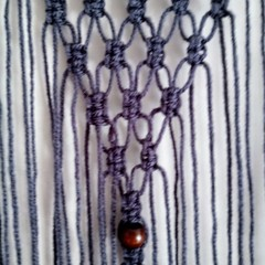 Dark grey Macrame wall hanging
