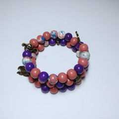 Purple & Pink Wrap Bracelet