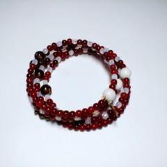 Wrap Bracelet in Red & White
