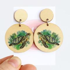 Sustainable Statement Earrings - Turtle Earrings - Surgical Steel - Wholesale