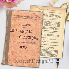 French Dictionary Page Sets