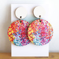 Sustainable Statement Earrings - Colourful Art - Surgical Steel - Wholesale
