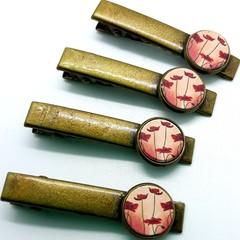 Poppy tie pins