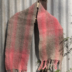 Pink and Green Hand Woven Wrap