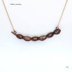 Acacia (wattle) seedpod necklace - copper plated Australian flora