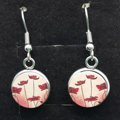 Poppy antique dangles
