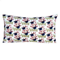 Nature Lover Blue Bird Lumbar Pillow.
