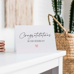 Congratulations Wedding Card, Script Font, WED084