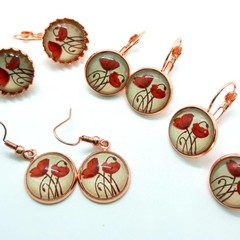Poppy 2 glass dangles