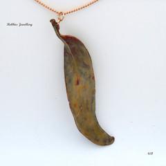 Real eucalyptus leaf - Australian Flora Jewellery