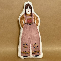 POCKET DOLL in pink coveralls