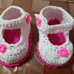 Crocheted cotton booties