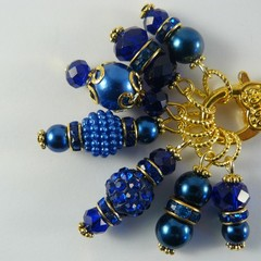 Stitch Markers : Deluxe Gem Cabochon Marker Collection SAPPHIRE