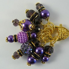 Stitch Markers : Deluxe Gem Cabochon Marker Collection AMETHYST