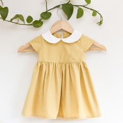 Size 2 Sustainable Mustard Yellow PeterPan Toddler Dress