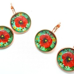 Poppy glass dangles