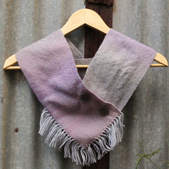 Purple and Grey Hand Woven Cowl