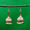 Real bell shaped gum nut earrings - copper plated Australian flora