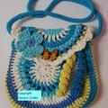 Crocheted Girl's bag with French Knitted straps