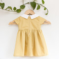 Size 2 Sustainable Mustard Yellow PeterPan Toddler Dress