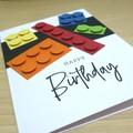 Kids Birthday card - building blocks