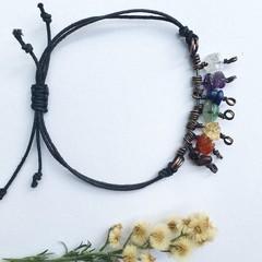 Chakra Crystal Charm Bracelet / Anklet
