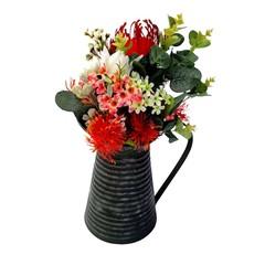 Artificial Australian Native Flower Arrangement in Tin Jug - Mothers Day Gift