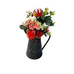Native Flowers - Artificial Australian Native Flower  Arrangement in Tin Jug