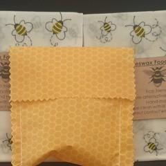 beeswax food wraps  and mini pocket se