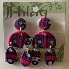 Funky Multi Component Earrings