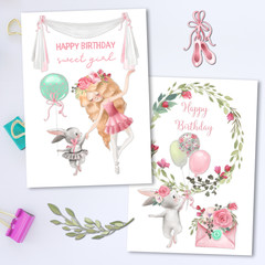 Sweet Ballerinas Cards