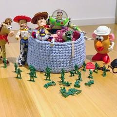 Handmade Crochet Basket.